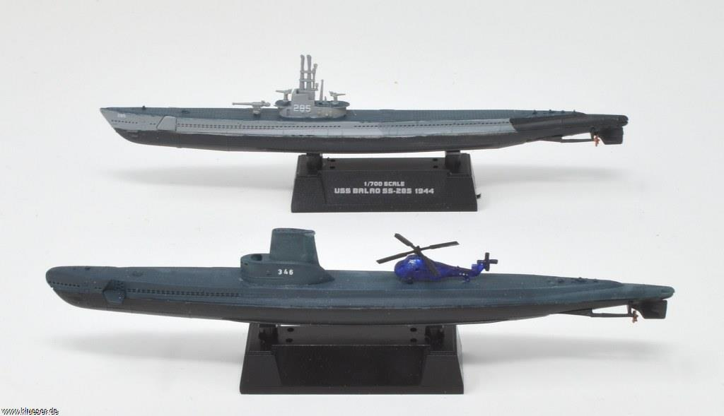 Sikorsky S-58 / Wessex 1/700, USS Balao SS-285, USS Corporal SS-346 GUPPY II 1956