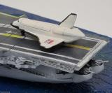 Space Shuttle Endeavor, USS Intrepid CV-11 w/ angle deck 1972